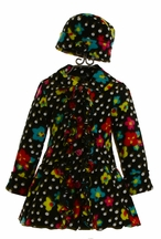 Mack and Co Ruffle Coat and Hat for Girls Floral Dot