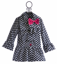 Mack and Co Winter Coat for Little Girls Polka Dot (2T, 5, 6 & 6X)