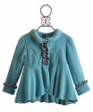 Mack & Co Little Girls Blue Fleece Coat