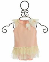 Mae Li Rose Baby Girl Tutu Onesie with Bow (Size 9/12 Mos)
