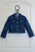 Mae Li Rose Denim Jacket for Girls