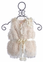 Mae Li Rose Elegant Faux Fur Vest for Girls