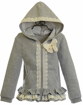 Mae Li Rose Fancy Hooded Sweatshirt for Girls (4/5 & 10)