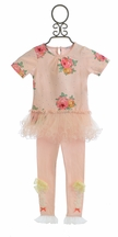 Mae Li Rose Floral Tunic with Leggings for Girls