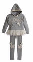Mae Li Rose Frilly Sweater and Leggings for Girls Love
