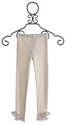 Mae Li Rose Girls Ivory Leggings with Flowers