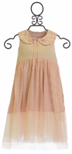 Mae Li Rose Girls Party Dress in Blush Glitter