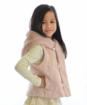Mae Li Rose Girls Pink Designer Vest Holiday Pearl (2T,3T,4,7,8)