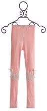 Mae Li Rose Girls Pink Legging with Bows