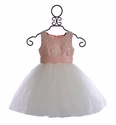 Mae Li Rose Girls Special Occasion Dress Pink (2T/3T & 8/9)