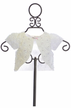 Mae Li Rose Girls Special Occasion Shrug in White