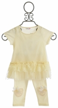 Mae Li Rose Ivory Tunic for Girls with Legging (Size 4/5)