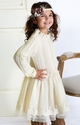 Mae Li Rose Little Girls Knit Sweater Holiday Dress