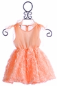 Mae Li Rose Peach Dress with Shoulder Ties
