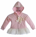 Mae Li Rose Pink Jacket with Ivory Bows