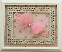Mae Li Rose Pink Lace and Chiffon Headband