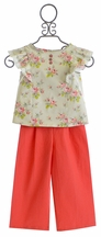 Magpie and Mabel Flora Top and Nautical Pant for Girls