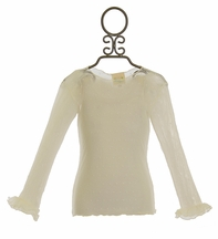 Magpie and Mabel Girls Ivory Mesh Tee Dotty