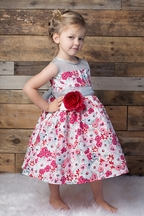 Magpie and Mabel Maeve Frost Dress in Red
