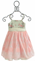 Magpie and Mabel Paloma Dress for Girls in Porcelain Pink