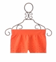 Malibu Sugar Neon Orange Rhinestone Tween Shorts