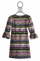 Maria Casero Chevron Stripe Girls Dress