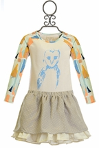Mary Helen  Designer Owl Top and Skirt for Girls