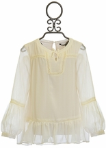 Mayoral Boho Blouse for Tweens in Ivory (8 & 10)