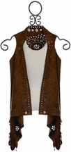 Mayoral Boho Suede Vest for Girls
