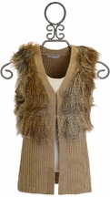 Mayoral Boutique Vest for Tweens with Fur