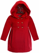 Mayoral Coat for Girls with Hood in Red (12Mos,18Mos,24Mos)