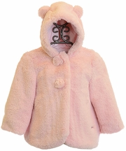Mayoral Pink Coat Faux Fur Infant