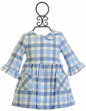 Mayoral Plaid Dress for Baby Girls in Light Blue