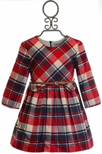 Mayoral Plaid Dress for Girls in Red