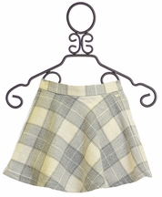 Mayoral Plaid Skirt in Gray Girls