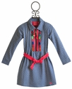 Mim Pi Blue Gingham Girls School Dress