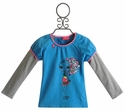 Mim Pi Blue Girls Shirt with Fashionista