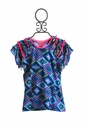 Mim Pi Blue Summer Top for Girls (4, 7 &10)