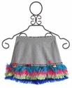 Mim Pi Girls Skirt with Colored Fringe