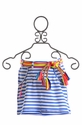 Mim Pi Girls Striped Skirt in Blue