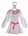 Mim Pi Girls Summer Dress in White