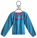 Mim Pi Girls Top in Speckled Blue (Size 9)