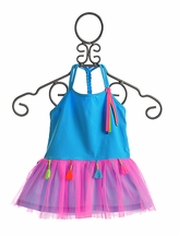 Mim Pi Infant Tutu Dress in Pink and Blue (6Mos & 18Mos)