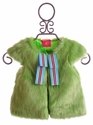 Mim Pi Green Faux Fur Girls Vest