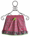 Mim Pi Pink Striped Girls Skirt (4, 6, 7, 9)