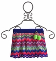 Mim Pi Striped Girls Skirt in Chevron