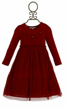 Mimi and Maggie Baby Girls Ballerina Dress in Red