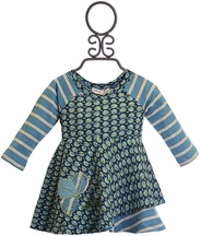 Mimi and Maggie Baby Girls Dress with Daisies in Blue