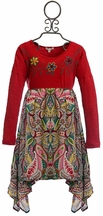 Mimi and Maggie Girls Paisley Dress with Flowers