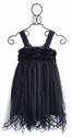 Mimi and Maggie Girls Party Dress Charcoal Gray